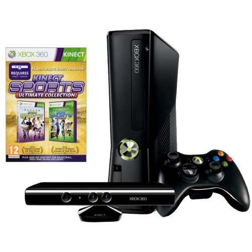 Купить Microsoft Xbox 360 500Gb Black + Kinect + Kinect Sports Ultimate