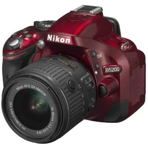 Купить Nikon D5200 KIT Red 18-55 VR II