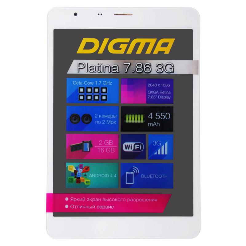 Купить Digma Platina 7.86 3G белый-серебр.